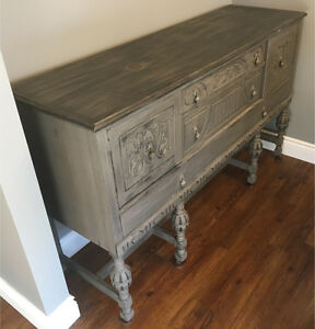 Sideboard - Antique Solid Wood - Chalk Painted