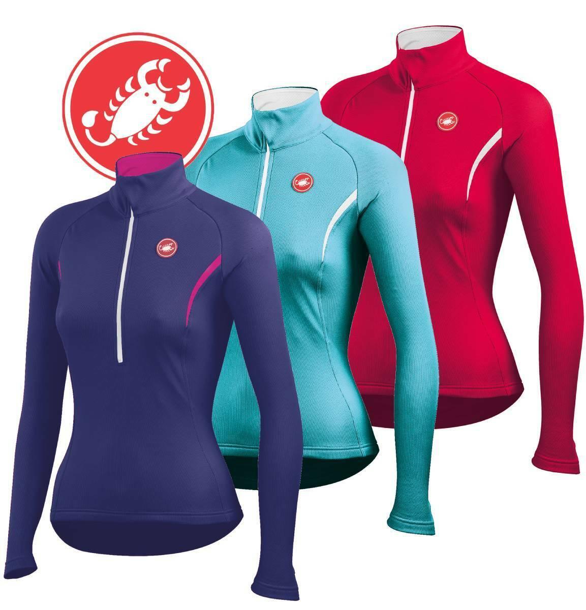 Castelli Cromo Women's Thermal Fleece Long Sleeve Jersey : F