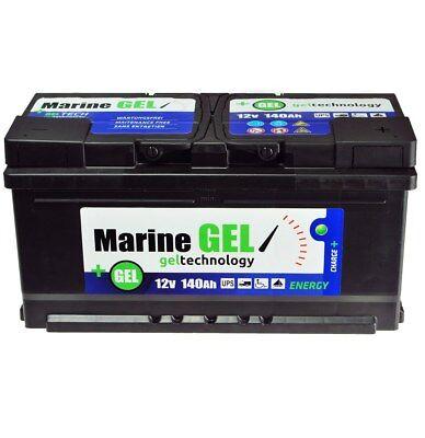 GEL-Batterie 140Ah Marine Bootbatterie Boot 12V Wartungsfrei  Batterie Gelbatter