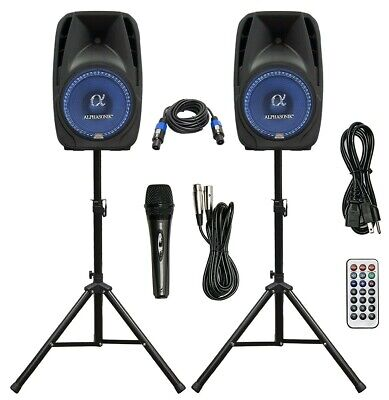 Used, Blast King POP152AK Bluetooth Active/Passive Speaker Box Combo with Stands, Mic for sale  Shipping to South Africa