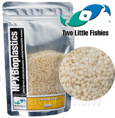 NPX Bioplastics Bio Pellet Plastic Media Beads Two Little Fishies 50 gal. 200ml