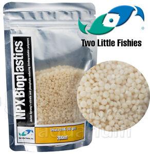 NPX Bioplastics Bio Pellet Plastic Media Beads Two Little Fishies 50 gal. 200ml