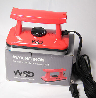 (WSD Ski and Snowboard Wax Iron  waxing Iron Ski snowboard tune up Red scratches)