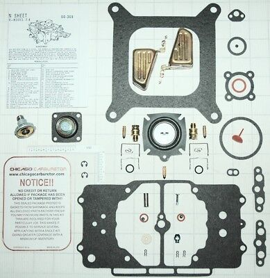 - 1958-69 ULTIMATE CARB KIT-W/DIAPHRAGM & FLOATS FORD MUSTANG MOTORCRAFT 4100 NEW