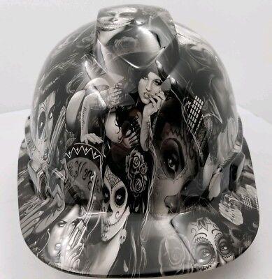 Hard Hat Custom Hydro Dipped Osha Approved Tattoo Babes New Super Sick