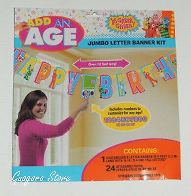 YO GABBA GABBA! Add Any Age Birthday Banner Party Supplies Decorations