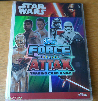 TOPPS STAR WARS FORCE ATTAX AWAKENS 1-224 full set + binder + 2 LTD