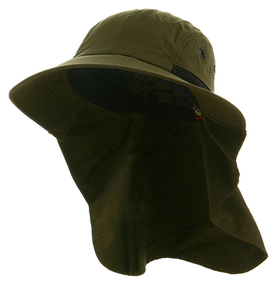 fb49b3cb6ac Adam s Headwear Extreme Outdoor Fishing Travel Sun Wide Bucket Hat Cap UPF  45+