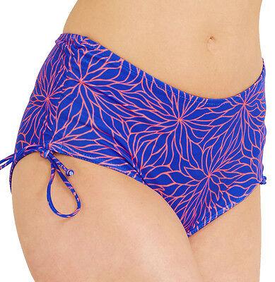 Cape Verde Nylon - Fantasie Cape Verde Womens Adjustable Leg Bikini Brief Shorts Blue Marina Small