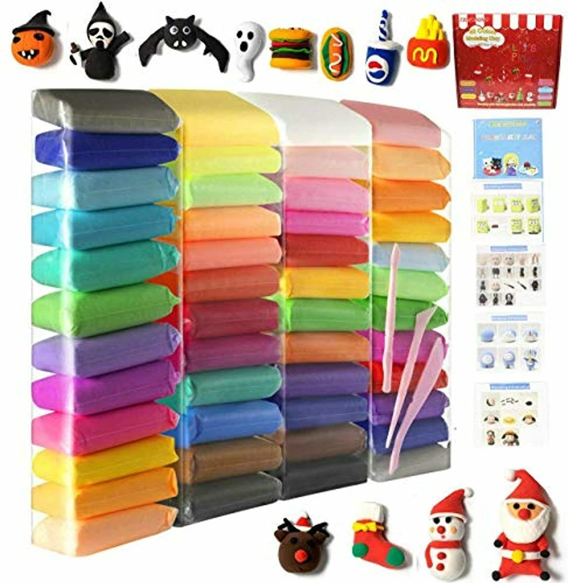 Air Dry Modeling Clay In Many Colors Magic Clay For Kids And