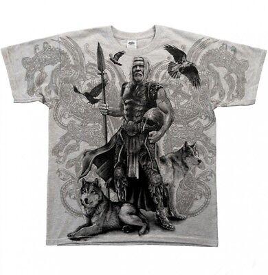 Odin Kostüm (Gothic Odin Metal Wikinger Viking Walhalla Hugin Munin T - Shirt Hemd M L XL XXL)