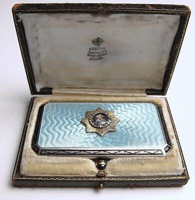 Used, FABERGE KФ Imperial Russian Gem Silver Enamel Guilloche Snuff Box Cigarette Case for sale  Baltimore
