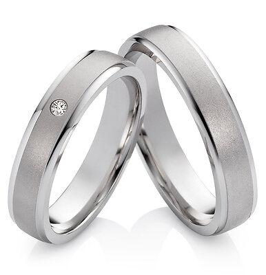 Eheringe Verlobungsringe Partnerringe 925 Silber mit Zirkonia Ringgravur S630