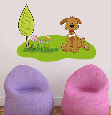 ced150 Full Color Wall decal Sticker dog nature bedroom kids nursery