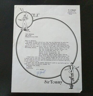 Sir Tommy Unicycle Act & T.J Juggling Act Letterhead