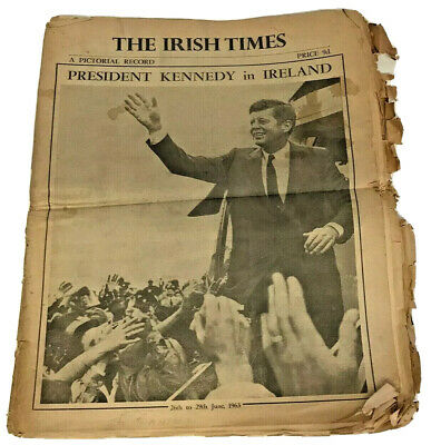 Irish Times Newspaper President Kennedy In Ireland JFK Pictorial Record 1963