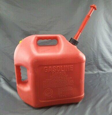 Blitz Heavy Duty 5 Ga. Plastic Gas Can Vented Long Spout Cap On Spout