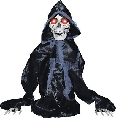 Morris Costumes Rising Black Reaper Animated Halloween Decorations & Props](Halloween Decorations Animated Props)