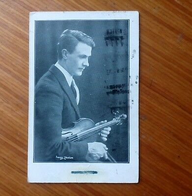 Vintage* Gent with a Violin and Bow. 17th June 1929. 1/2 Union Congress Stamp