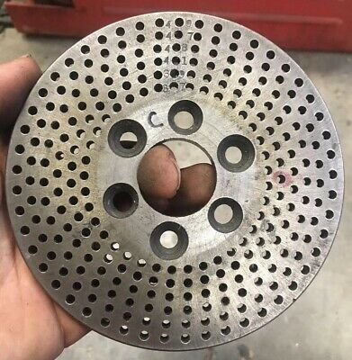 Dividing Head Indexing Plate 37 39 41 43 47 49. 3 Bolt Hole Mounting