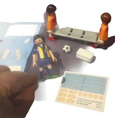 Playmobil 4727 Sport Action Football Field Medics & Injured Player, Complete