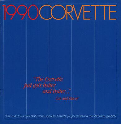1990 CORVETTE Z51 - DEALER BOOK BROCHURE - CHEVROLET C4 90 - 350 5.7L L98 - NEW