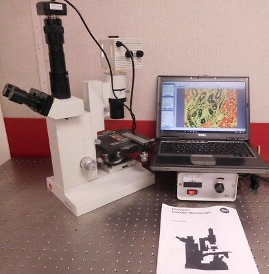 Leitz Leica Diavert Phase Photo Research Inverted Microscope