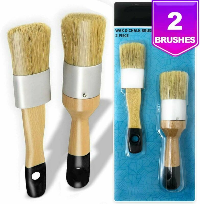 Chalk, Milk Paint and Wax Brush Set for Stencil Brushes, Home Furniture Paint...