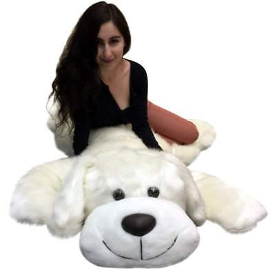 American Made Giant Stuffed 5 Foot Dog 60 Inch Soft Large Plush Puppy White New](5 Foot Stuffed Animal)