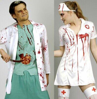 Zombie Arzt Kostüm blutiger Chirurg Doktor Krankenschwester Halloween - Blutige Zombie Kostüm