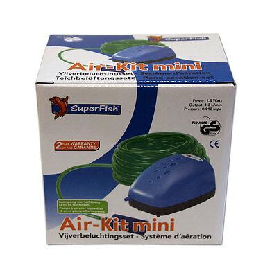 SUPERFISH AIR-KIT MINI - Pumpe 1,8 Watt Teichbelüfter Ausströmer Teichbelüftung
