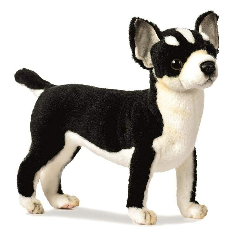 Hansa Chihuahua Plush, Black/White From Japan