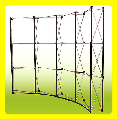 10 Pop Up Trade Show Exhibit Display Booth Frame - Curved