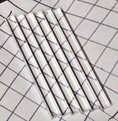 6 Pcs 12 X 12 X 6 Long Square Clear Acrylic Plexiglass Lucite Rod .50 Inch