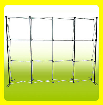 10 Pop Up Trade Show Display Backdrop Booth Frame Straight