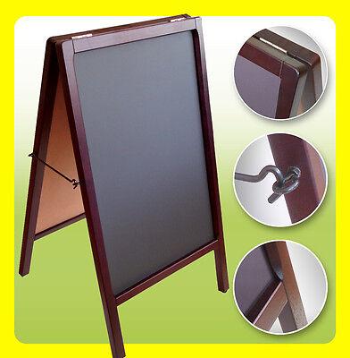 Chalkboard A-frame Double Sided Menu Restaurant Sign Sidewalk Sandwich Board