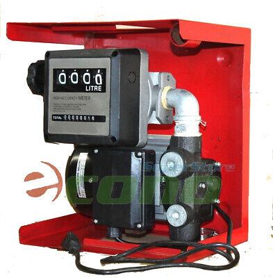 16gpm 110v Electric Oil Fuel Diesel Gas Transfer Pump W Mechanical Meter Gallon