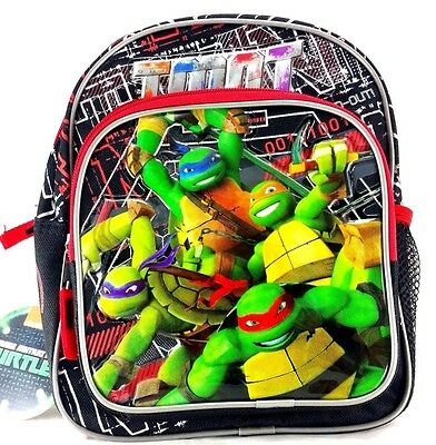 Ninja Turtle Backpack (New Ninja Turtles Small Backpack 10 inches Kids' Mini Backpack Boys Bag)