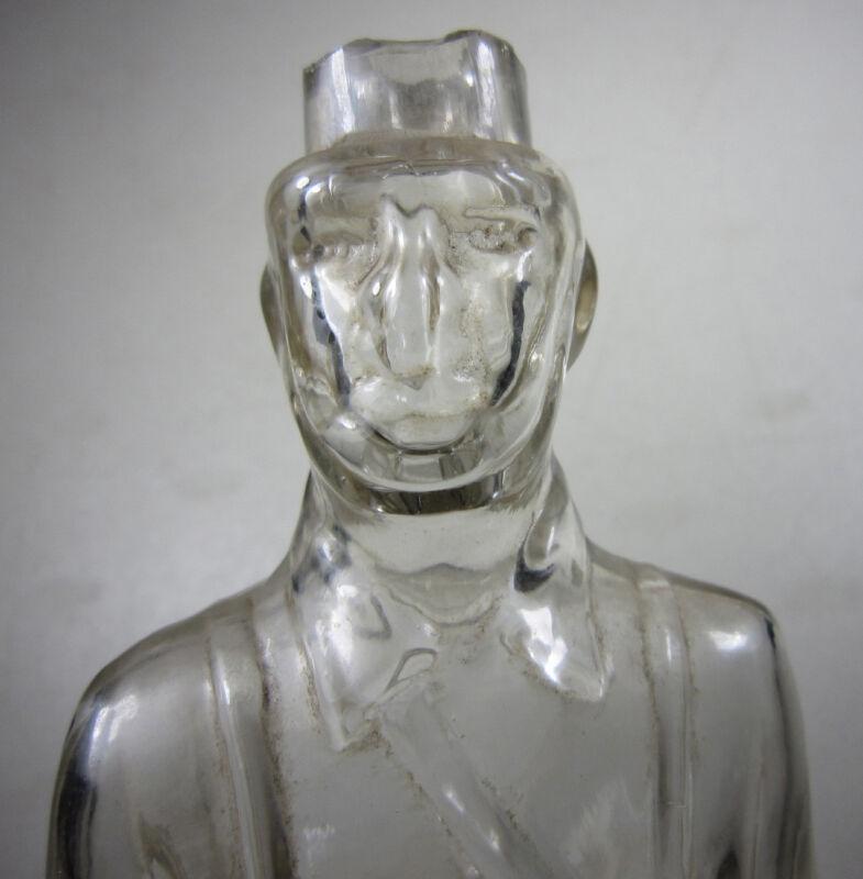 """c1900 Antique Civil War Soldier 11.75"""" Figural Bottle"""