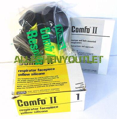 New Msa Comfo Ii 474816 Respirator Facepiece Yellow Silicone Large