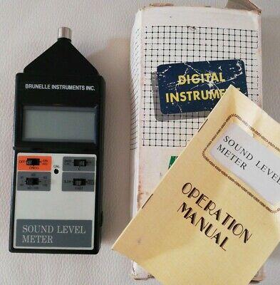 Genuine Brunelle 4001 Digital Sound Level Meter - Tested Works Sold As Is