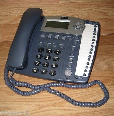 Att 945 4-line Corded Small Walldesk Mount Business System Speaker Telephone