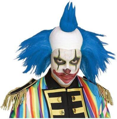 Gedreht Clown Blau Perücke Krusty The Simpsons Kostüm Clown Halloween (Krusty Clown Kostüm)