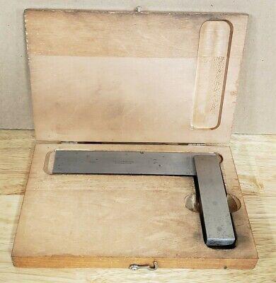 L.s. Starrett No 20 6 Precision Square Wwood Case Excellent Condition