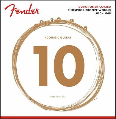 Genuine Fender 860XL Phosphor Bronze DuraTone Acoustic Guitar Strings 10-48