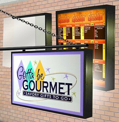Led Illuminated Lightbox 2 Double Sided Outdoor With Sign Graphic 4x8 -9
