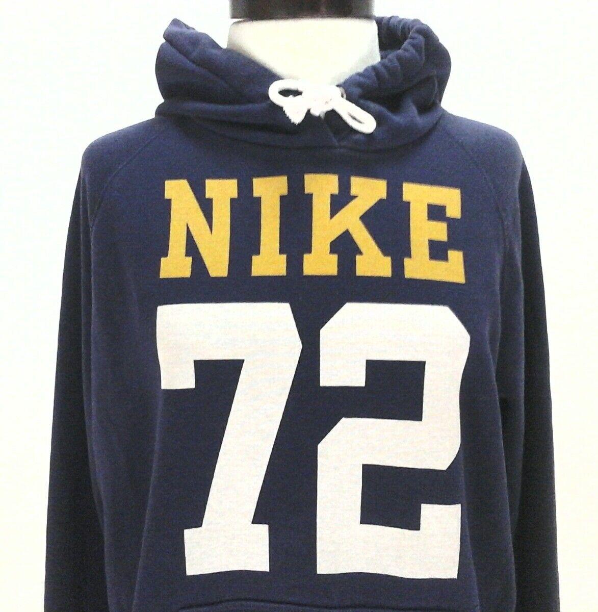 25e91dbd12ea NIKE Hoodie Jacket ATHLETIC DEPT Pullover Sweatshirt Purple Yellow 72  Women s L