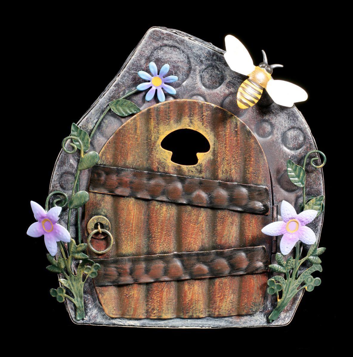 Elfen Metall Tür - Beekeepers Cottage - Fantasy Garten Haus Deko Fee Magie