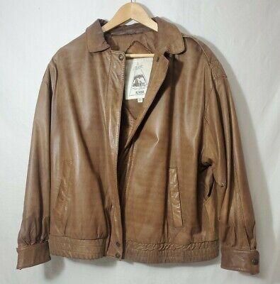 Brown Best Leather Jacket Vintage Luis Alvear Brass Plum