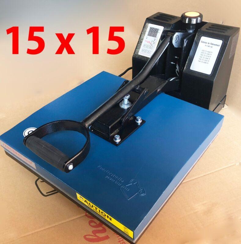 15 x 15 Digital Clamshell Heat Press Transfer T-Shirt Sublimation Press Machine